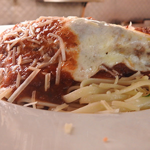 George & Wendy's Grilled Chicken Parmigiana