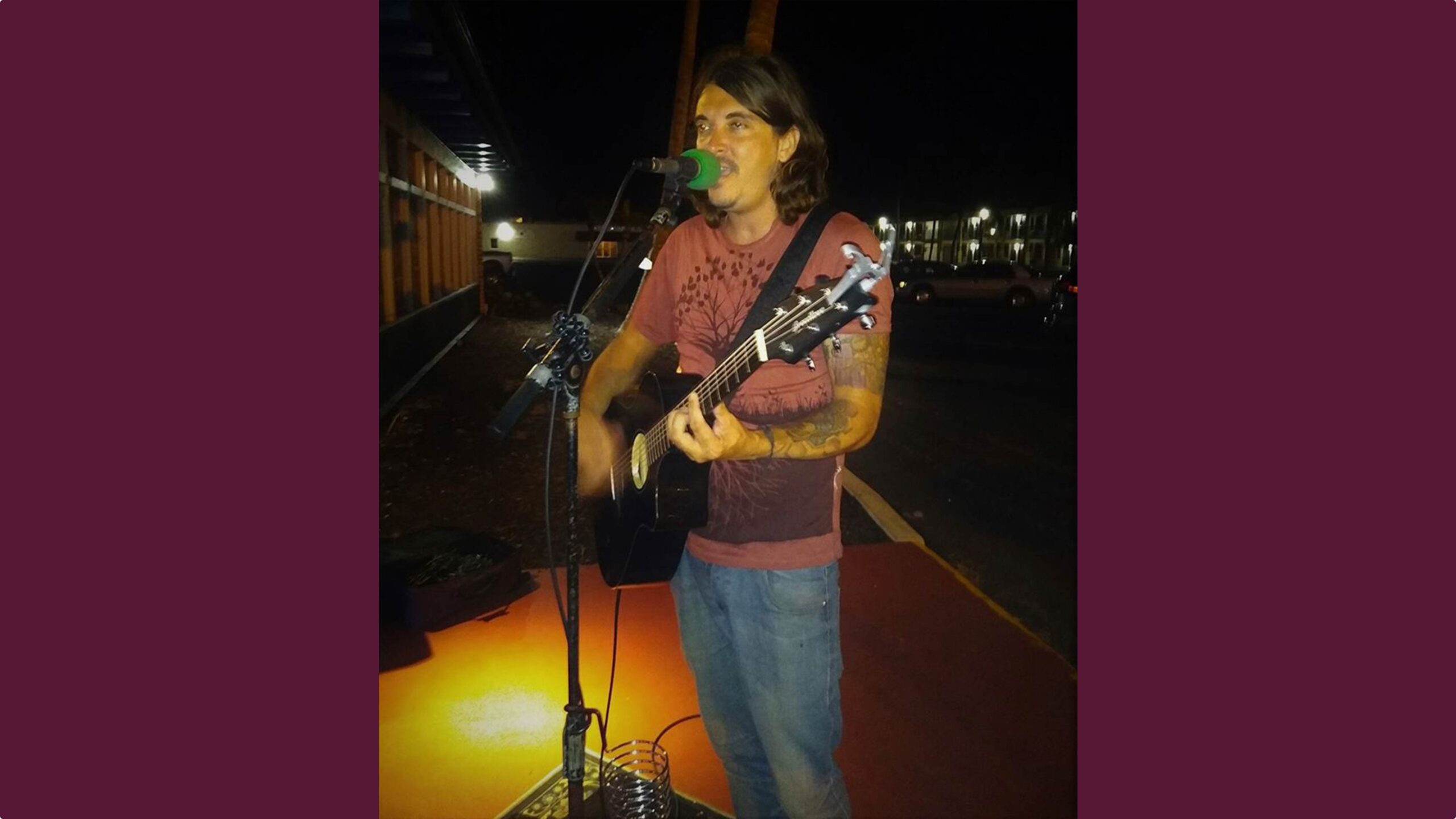 Aaron Seyferth, a singer and guitar player, plays live music at Sanibel Seafood Grille